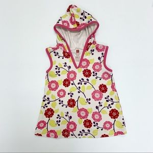 Tea Collection Hooded Floral Tunic Top 12 18